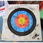 Une petite signature des archers en souvenir de ce week-end