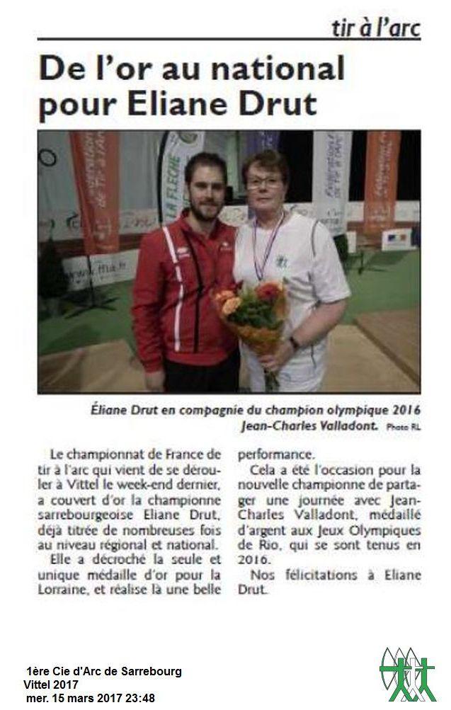 RL du 11-03-2017 Eliane Drut et Jean-Charles Valladont