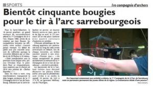 RL du 12-01-2016 Le Club de Sarrebourg aura bientôt 50 ans
