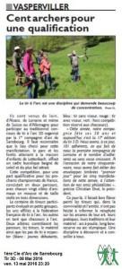 RL du 13-05-2016 Compétition 3D du Club de Sarrebourg