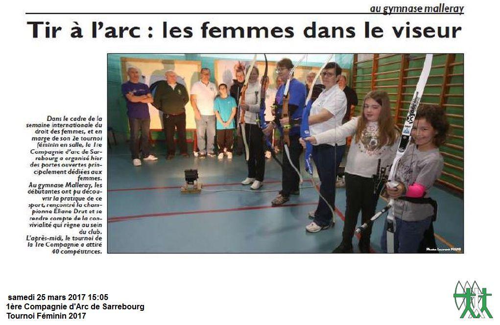 RL du 20-03-2017 Tournoi Féminin en salle au Club de Sarrebourg
