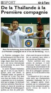 RL du 21-10-2015 Pann Sermchaiwong s'entraîne au Club de Sarrebourg