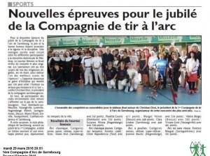 RL du 29-03-2016 Tournoi Féminin au Club de Sarrebourg