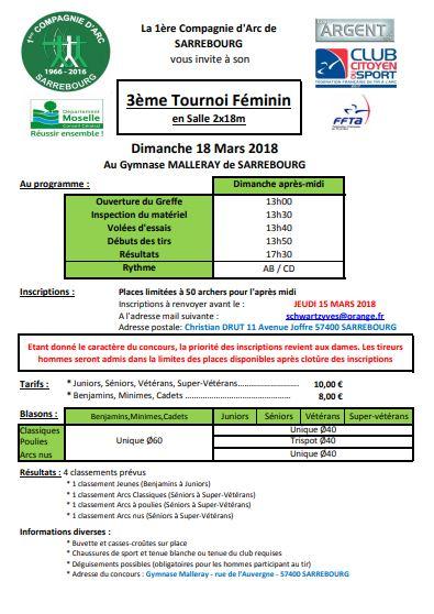 mandat tournoi féminin 2018